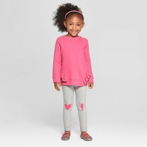 Cat & Jack Girls 2-piece Paradise Pink Sweatpants